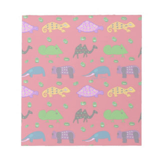 Animals - Purple Turtles & Blue Elephants Notepad