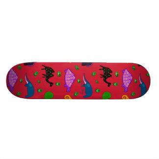 Animals - Purple Turtles & Blue Elephants Skate Board