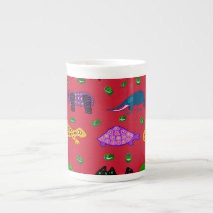 Animals - Purple Turtles & Blue Elephants Porcelain Mug