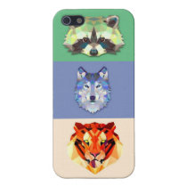 Animals raccoon wolf tiger iPhone SE/5/5s cover