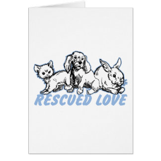 Animals Rescued Love Card
