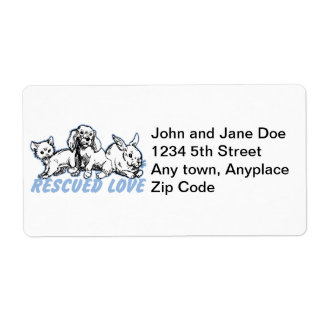 Animals Rescued Love Shipping Labels
