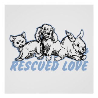 Animals Rescued Love Poster