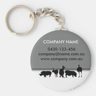 Animals Round Keychain