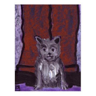 (Animals small dog big feet) Postcard