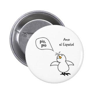 Animals Speak Spanish Too! Merchandise Button