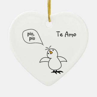 Animals Speak Spanish Too! Merchandise Ceramic Ornament
