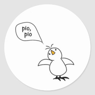 Animals Speak Spanish Too! Merchandise Classic Round Sticker