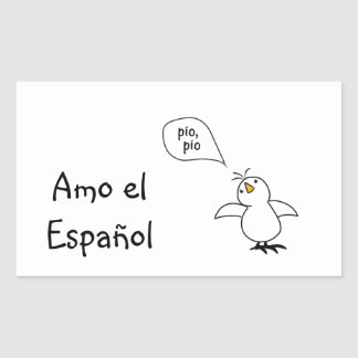 Animals Speak Spanish Too! Merchandise Rectangular Sticker
