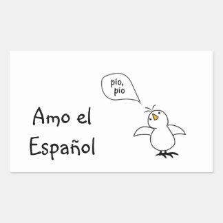 Animals Speak Spanish Too! Merchandise Rectangular Sticker