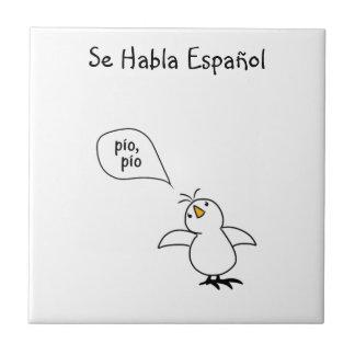 Animals Speak Spanish Too! Merchandise Small Square Tile