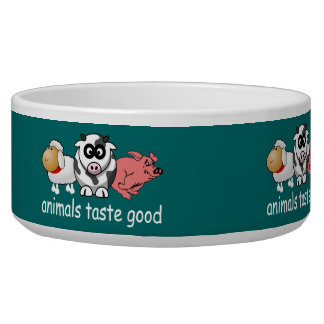 Animals Taste Good - Changeable Background Color Bowl