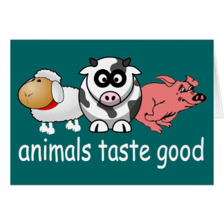 Animals Taste Good - Changeable Background Color Stationery Note Card