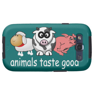 Animals Taste Good - Changeable Background Color Samsung Galaxy S3 Cases