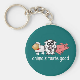 Animals Taste Good - Changeable Background Color Keychain