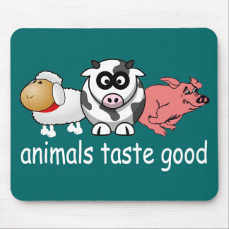 Animals Taste Good - Changeable Background Color Mouse Pad