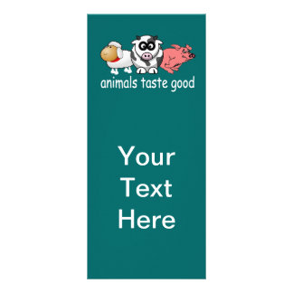 Animals Taste Good - Changeable Background Color Rack Card Template