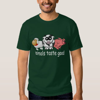 Animals Taste Good - Changeable Background Color T-Shirt