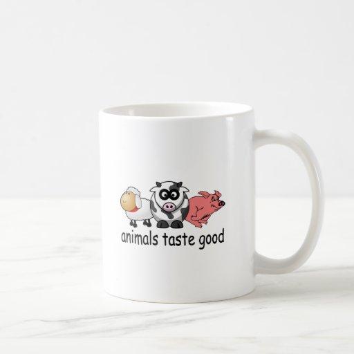 Animals Taste Good - Funny Meat Eaters Design Classic White Coffee Mug
