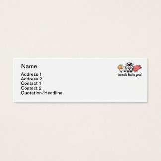 Animals Taste Good - Funny Meat Eaters Design Mini Business Card