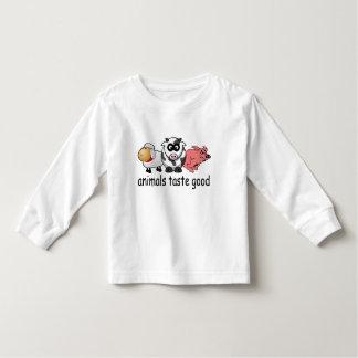 Animals Taste Good - Funny Meat Eaters Design Toddler T-shirt