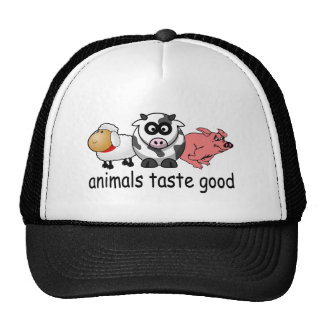 Animals Taste Good - Funny Meat Eaters Design Trucker Hat