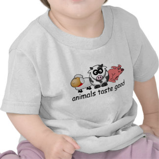 Animals Taste Good - Funny Meat Eaters Design T-shirts