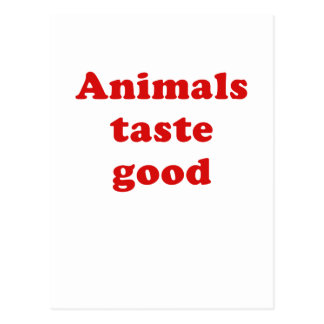 Animals Taste Good Postcard