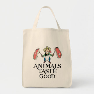 Animals Taste Good Tote Bag