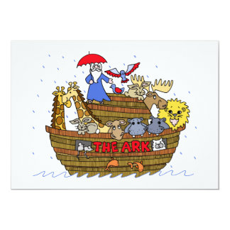 Animals Two by Two on Noah's Ark Card