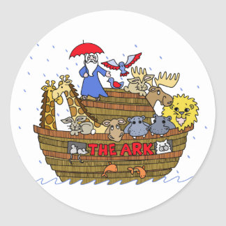 Animals Two by Two on Noah's Ark Sticker