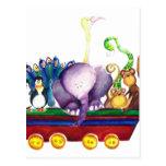 Animals wagon tarjetas postales