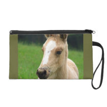 Animals Wild  Foal  Happy & Colorful Nature Wristlet Purse