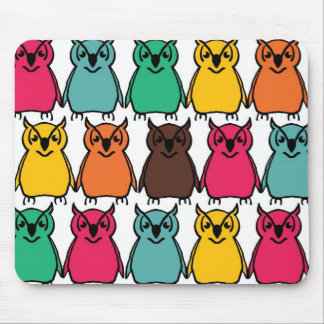 Animals Wild  Owl Birds  Happy & Colorful Nature Mouse Pad