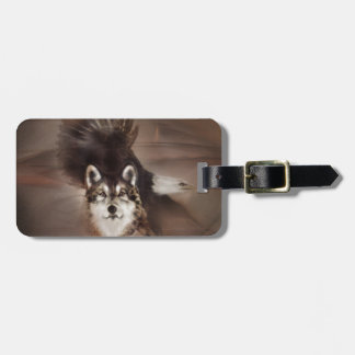 animals,wildlife nature, gifts,wolf eagle bag tag