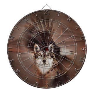 animals,wildlife nature, gifts,wolf eagle dartboard with darts