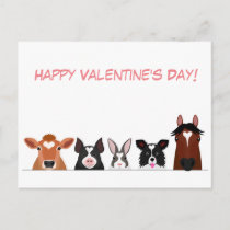 animals with heart marking card