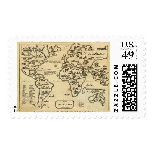 Animals World Postage Stamp