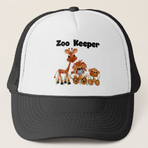 4ac422ddce253 Animals Zoo Keeper Tshirts and Gifts Trucker Hat