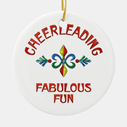 Animar la diversión fabulosa adorno navideño redondo de cerámica
