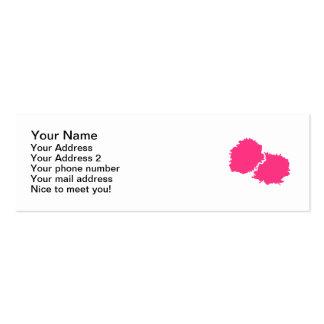 Animar poms del pom tarjetas de visita mini