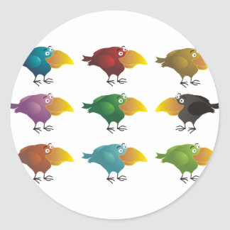 AnimArArA colorful on the inside Classic Round Sticker
