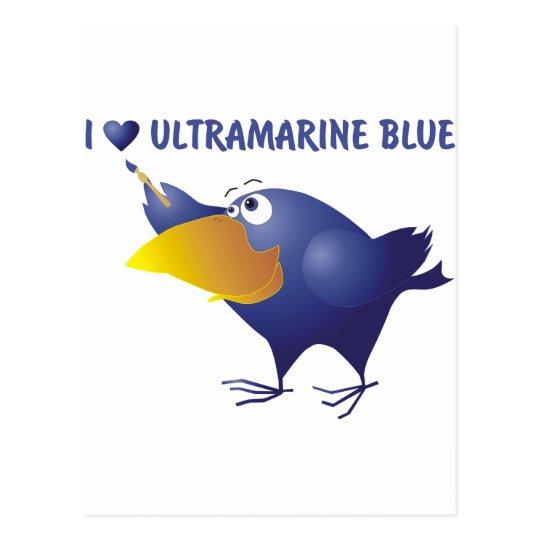 AnimArArA hearts ultramarine blue Postcard