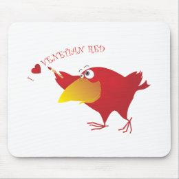 AnimArArA Hearts Venetian Red Mouse Pad