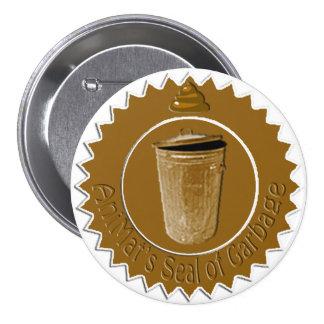 AniMat Seal of Garbage (Large) Pinback Button