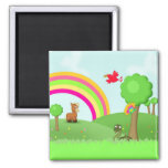Animatastic Animals in Colourful Fields magnet