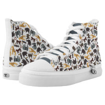 Animated Animals Background High-Top Sneakers