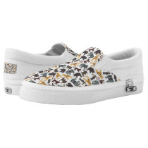 Animated Animals Background Slip-On Sneakers