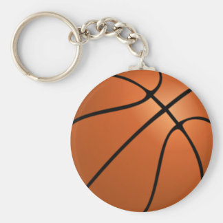 Animated basketball keychain