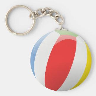 Animated beach ball keychain